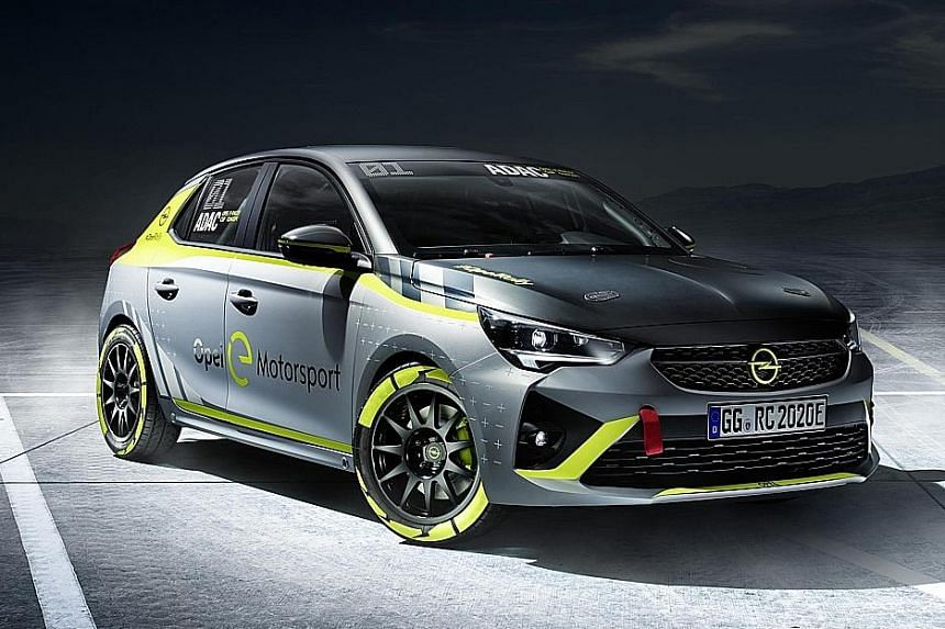 Opel launches electric rally car.