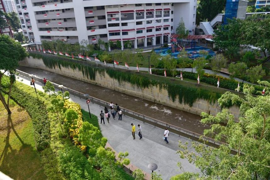 The capacity of the 3km-long Sungei Pandan Kechil canal has been doubled.