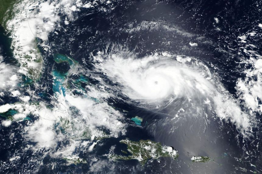 A Nasa handout satellite image taken on Aug 30 shows Hurricane Dorian approaching the coast of Florida in the US.