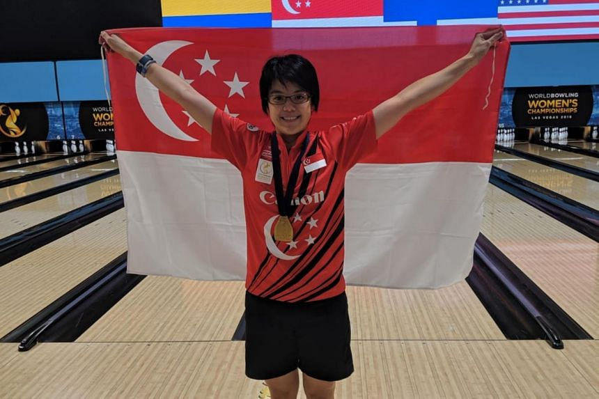 Singapore bowler Cherie Tan won gold in the Masters category final of the World Bowling Women's Championships in Las Vegas on Aug 30, 2019.