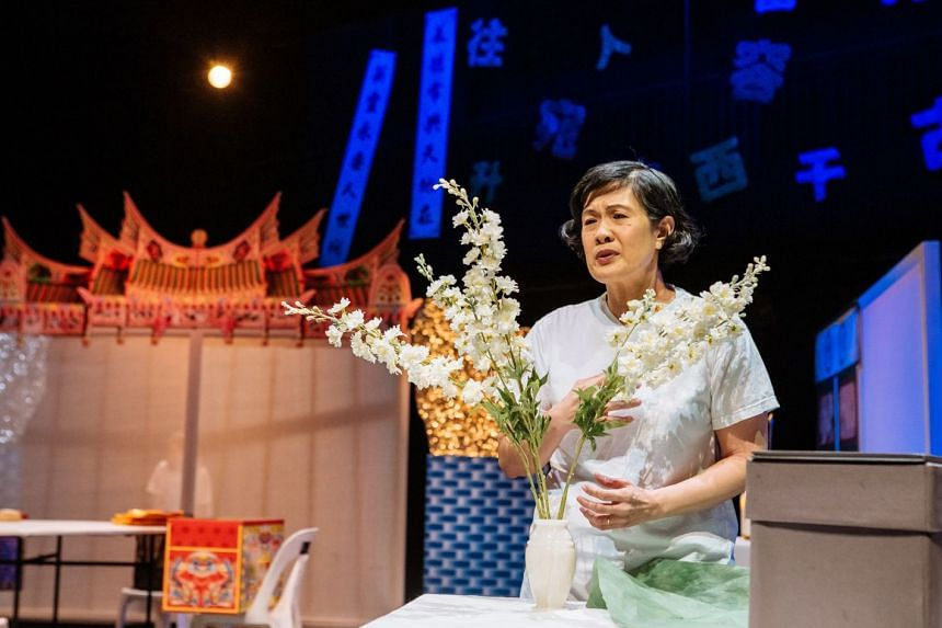 Karen Tan in Eat Duck, a new play by Zenda Tan for Checkpoint Theatre.