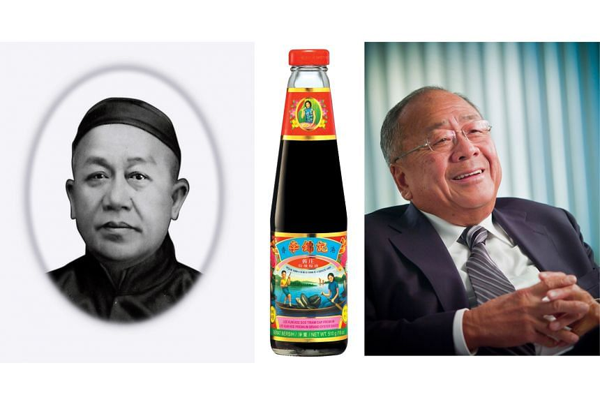 Lee Kum Sheung (left) invented oyster sauce by accident 130 years ago, coming up with the sweet-and-salty condiment that is now a staple of Cantonese cuisine. Current patriarch Lee Man Tat (right) first took the helm almost 50 years ago.
