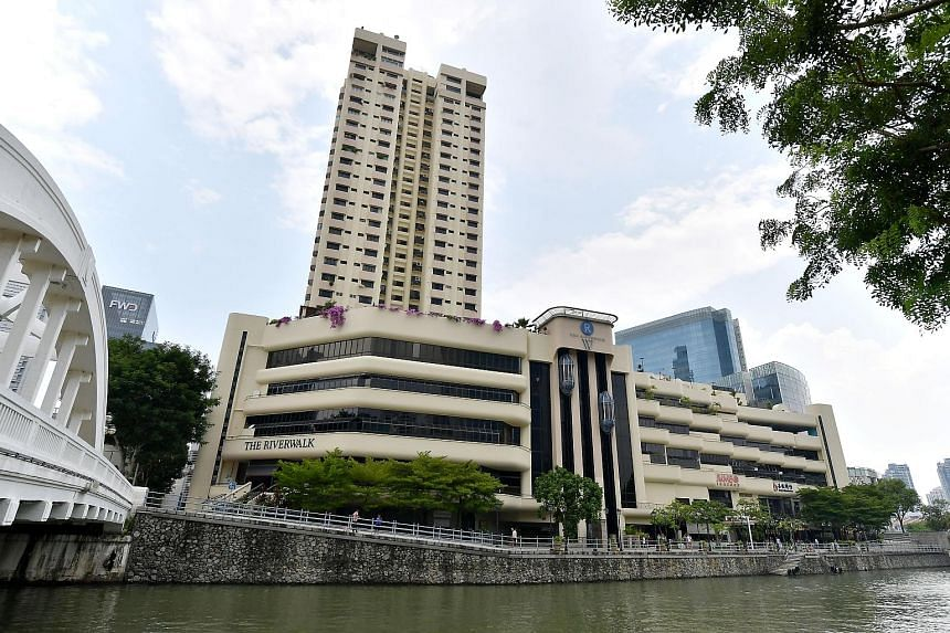 Riverwalk Apartments, overlooking the Singapore River. Mr Tan's family members owned some units there and his grandmother lives in one of them.