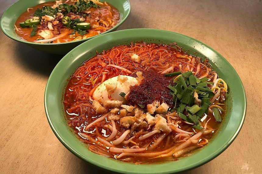 Kamariah Malay Food Stall is run by Madam Zaiton Ahmad, whose mee rebus and mee siam (both above) burst with old-school flavours.