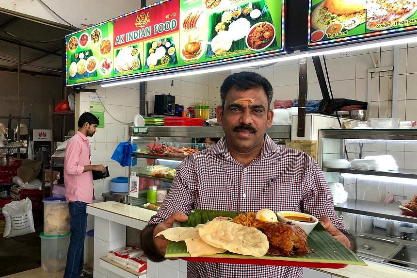 AK Indian Food stall owner Chinnasamy Palaniappan puts much thought into his ingredients and cooking methods, using Ponni rice for the briyani and only fresh chicken, lamb and angkoli fish for the curries.