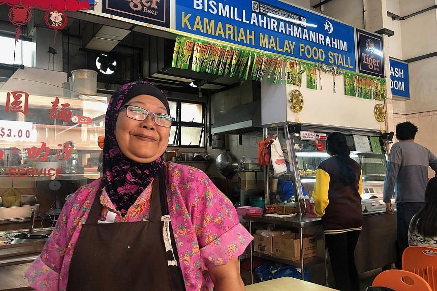 Kamariah Malay Food Stall is run by Madam Zaiton Ahmad (above), whose mee rebus and mee siam burst with old-school flavours.