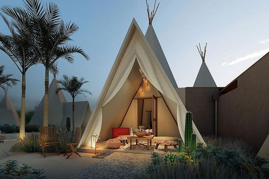 The teepees in The Anmon Resort Bintan are air-conditioned stunners that sit near South-east Asia's largest seawater lagoon, a cyan dream the size of 50 Olympic swimming pools.