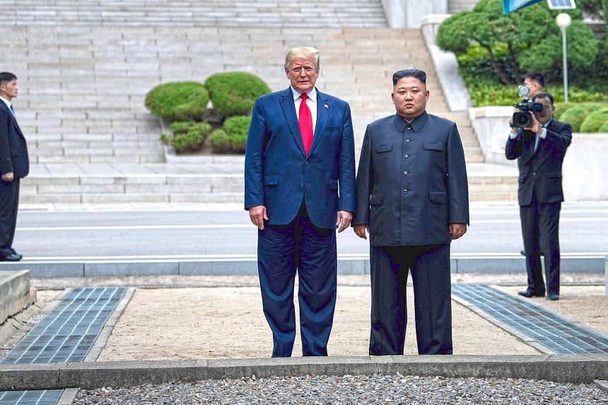 US President Donald Trump and North Korean leader Kim Jong Un standing on North Korean soil while walking to South Korea in the Demilitarised Zone on June 30. Like any other close relationship, there must have been some sort of chemistry between the