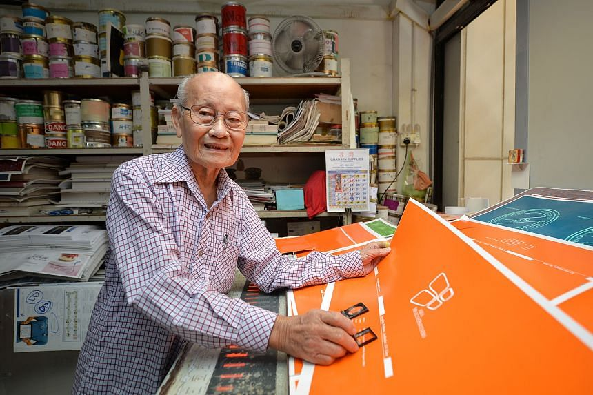 Mr Lee Chai Hin, 90, says he has no plans to retire just yet. His printing business aside, he loves travelling and cooking for his family regularly. He says he cooks best when he is happy.