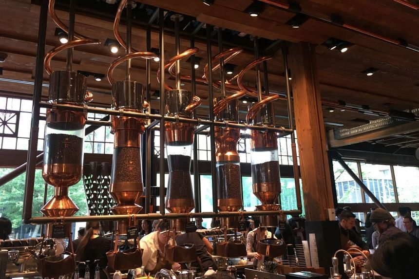 Get sweeping, stunning views of the Seattle skyline and beyond at the Space Needle and visit the Starbucks Reserve Roastery in Capitol Hill, which is decked out in hand-hammered copper (above).
