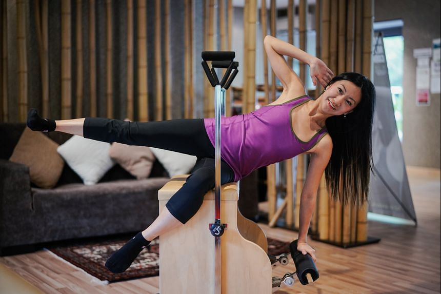Eye surgeon Claudine Pang runs, lifts weights and does pilates every week to keep fit and trim.
