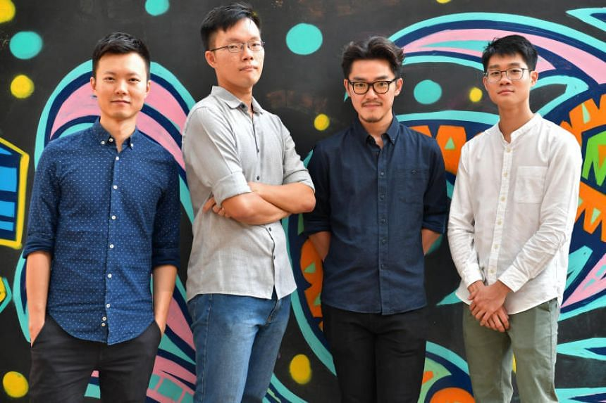 (From left) Winners at this year's National Youth Film Awards include Leon Cheo for best live action and best director (Open Youth), Jerrold Chong and Mark Wee for best Animation (Open Youth) and Junxian Shoki Lin for best director and best screenpla