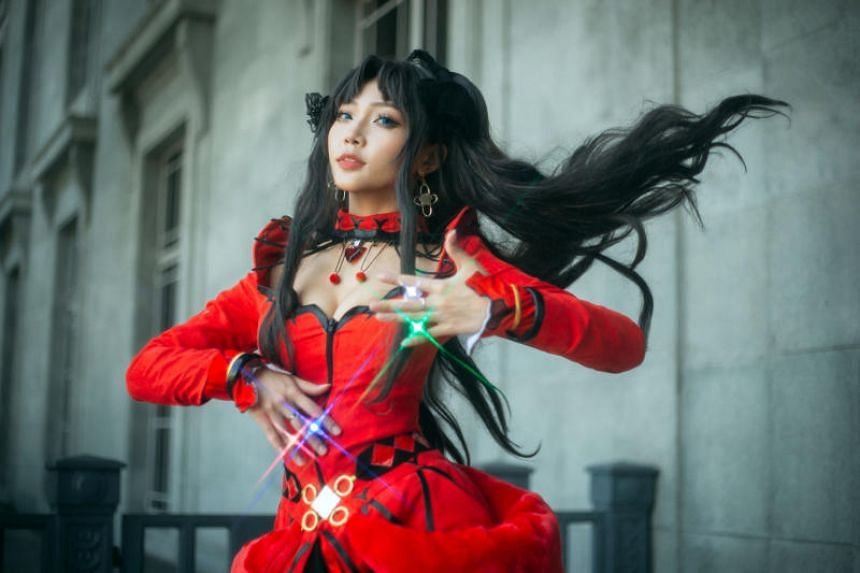 Reg, known as Rea Kami in the cosplay community, dressed as Rin from Fate/Grand Order.