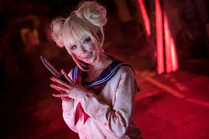 Vanessa, known in the cosplay world as Kiyo, dressed as Himiko Toga from Boku no Hero Academia.