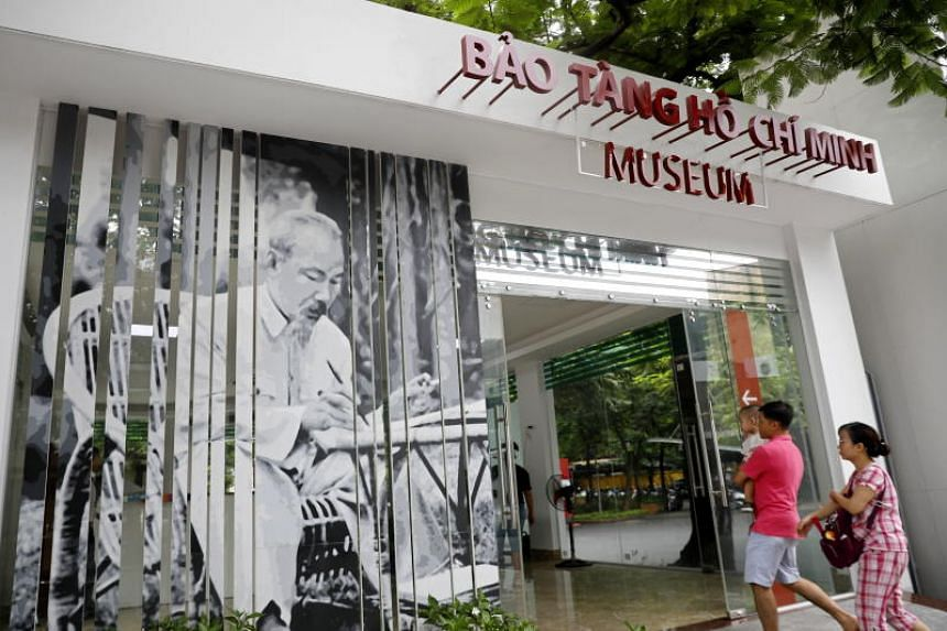 Tourists visit the Ho Chi Minh museum in Hanoi, Vietnam on Aug 31, 2019. President Ho Chi Minh, a Vietnamese national hero, died at the age of 79 on Sept 2, 1969.