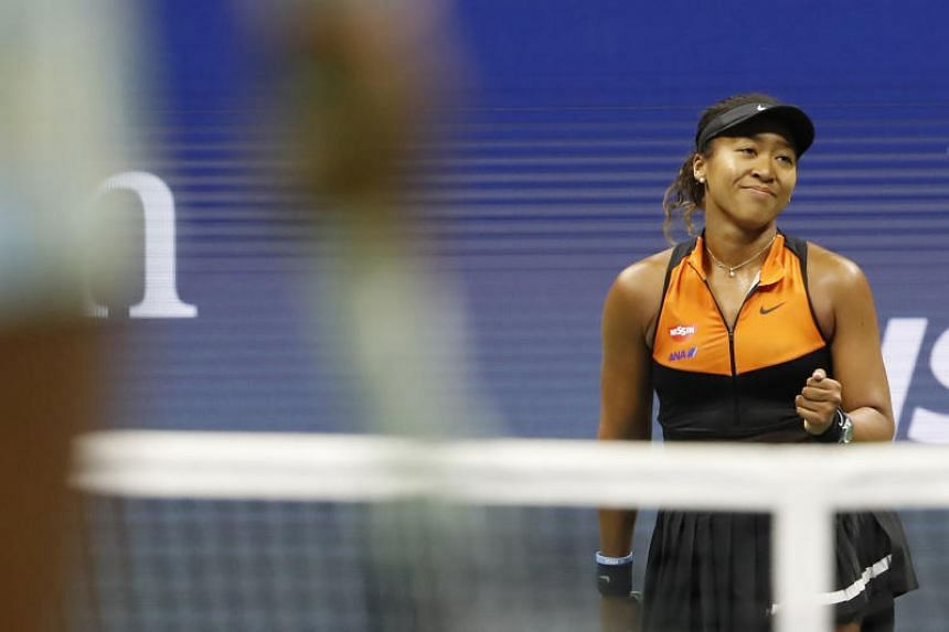 Naomi Osaka pictured during her match against Coco Gauff (not pictured) in the 2019 US Open tennis tournament at USTA Billie Jean King National Tennis Center on Sept 1, 2019.
