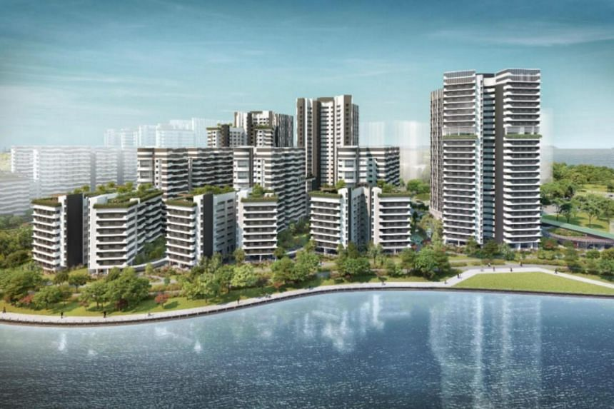 Higher blocks on the west of Punggol Point Cove will stagger down with connections towards the sea and Punggol Promenade, creating a cascade effect.