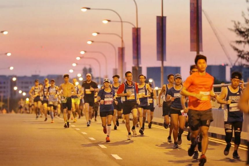 Runners at The Straits Times Run 2018 on Sept 23, 2018. There are still places in the men's 10km competitive run and 3.5km fun run available and the deadline to register for these two categories has been extended till Sept 15, 2019.