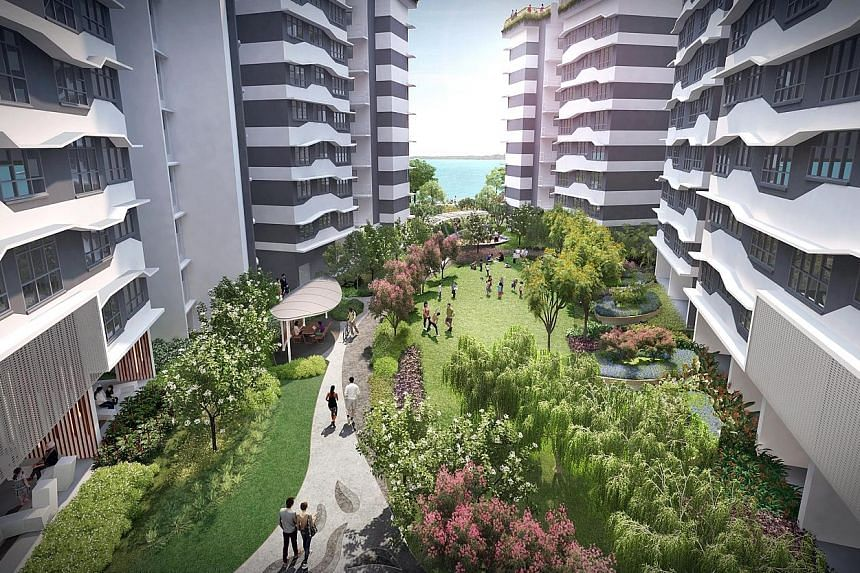 The 1,179 units in Punggol Point Cove's second phase will be housed in residential blocks built with a wave-like structure, in a nod to their seafront location.