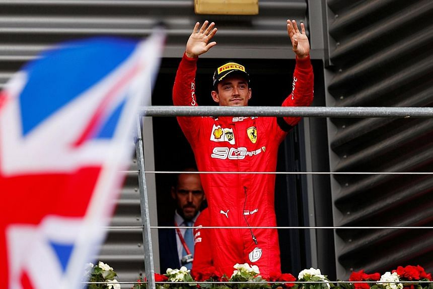 Charles Leclerc's maiden F1 victory was a bitter-sweet one, after Frenchman Anthoine Hubert was killed in Saturday's Formula Two race at the same track. PHOTO: EPA-EFE