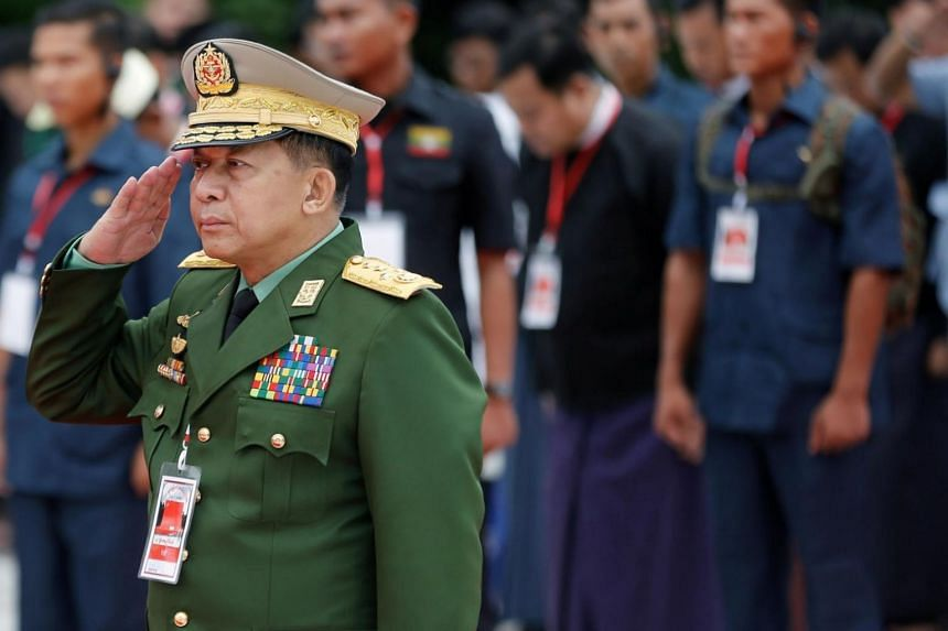 """On Aug 31, the website of commander-in-chief Min Aung Hlaing said a military court that visited the northern state found soldiers had shown """"weakness in following instructions in some incidents"""" at a village believed to have been a Rohingya massacre"""