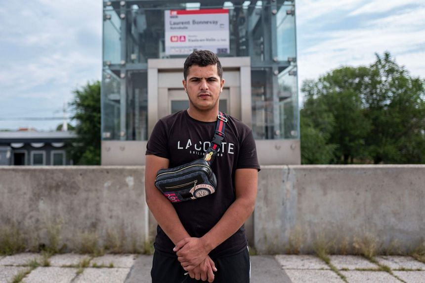Sofiane (above), 17, said he tried to help people who were stabbed and rounded up others to go after the attacker.
