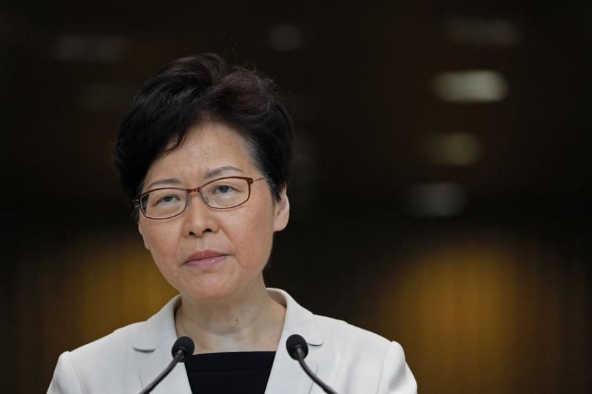 """Hong Kong leader Carrie Lam told a group of businesspeople during a closed-door meeting that she now has """"very limited"""" room to resolve the political crisis engulfing the city."""