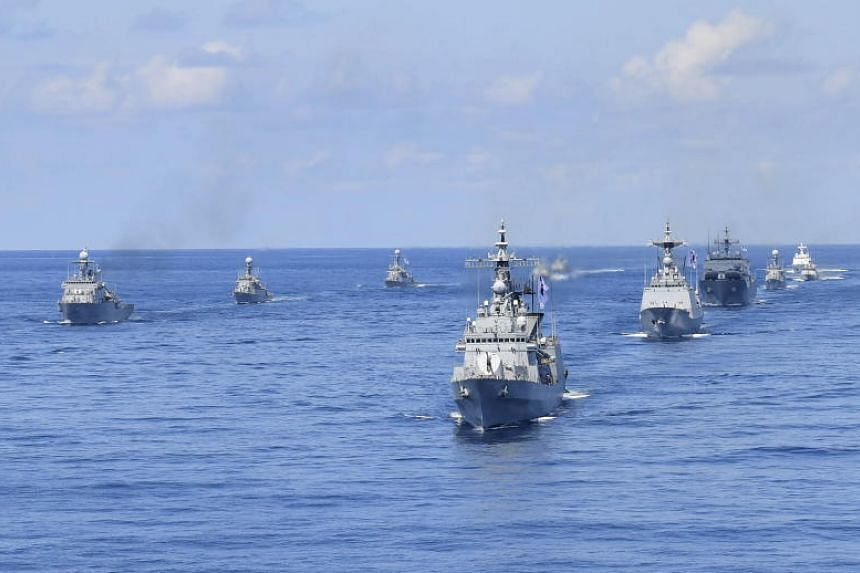 South Korean armed forces holding an exercise to defend the contested Dokdo Island, in the East Sea on Aug 25, 2019.