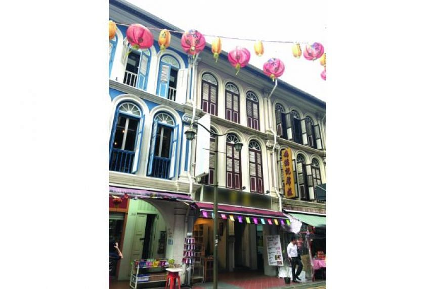 The three-storey conservation shophouse at 18 Sago Street has an estimated gross floor area of 3,196 sq ft, which works out to S$2,660 psf.