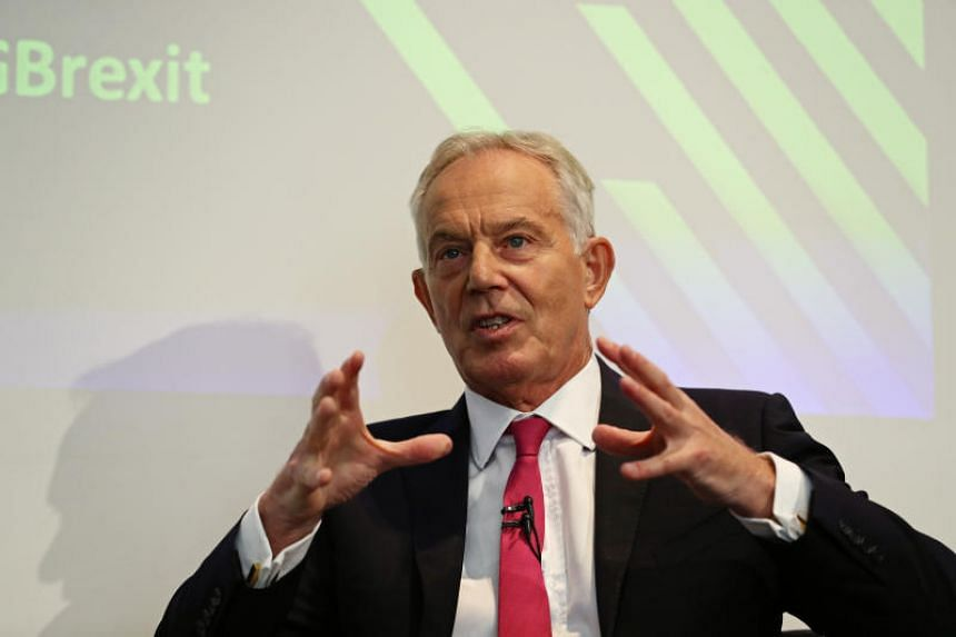 Former British Prime Minister Tony Blair speaks during a speech at the Institute for Government in London on Sept 2 2019