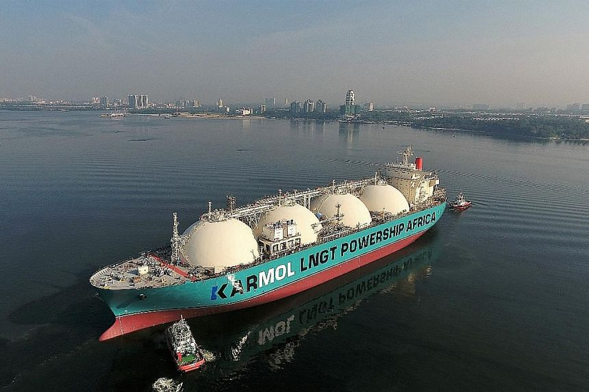 One of Sembcorp Marine Repairs & Upgrades' new projects is the conversion of liquefied natural gas tanker Dwiputra, which has been renamed Karmol LNGT Powership Africa, into a floating storage and regasification unit.