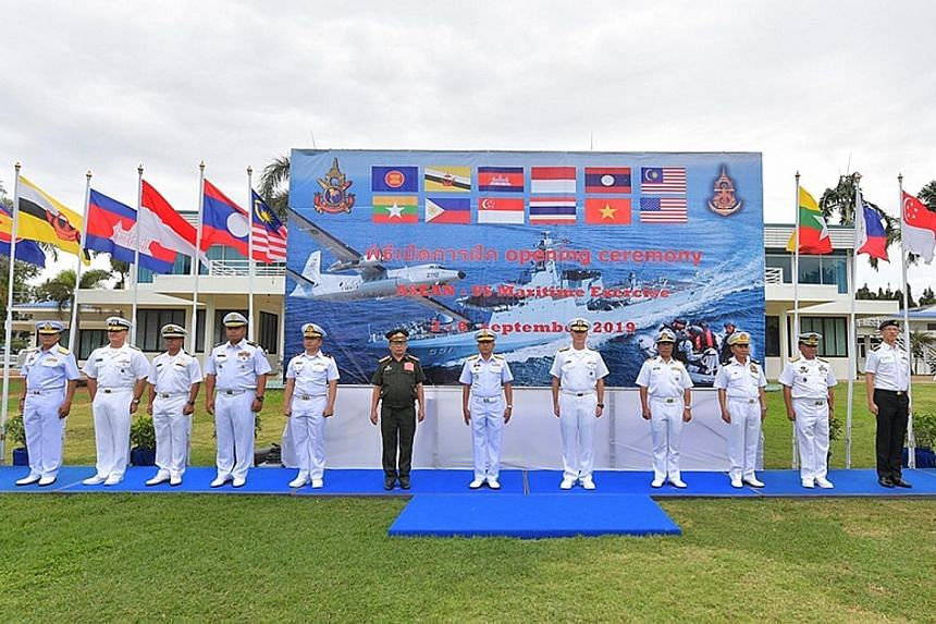 The opening ceremony for the five-day exercise took place at Sattahip Naval Base in Thailand yesterday.