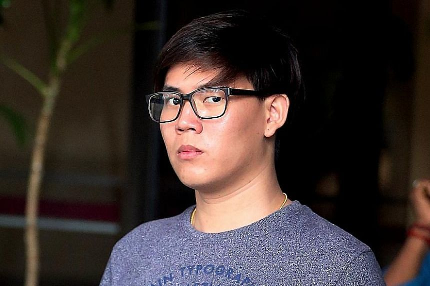 Joyner Tai Liang Yun committed his offences while in polytechnic and later in full-time national service. ST PHOTO: WONG KWAI CHOW