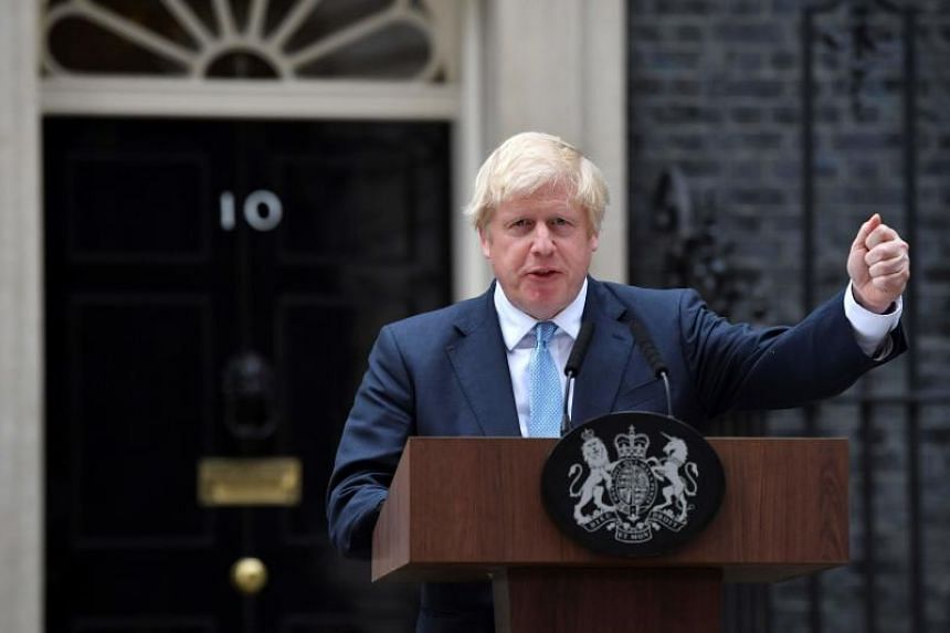 British Prime Minister Boris Johnson delivers a statement outside 10 Downing Street in central London on Sept 2, 2019.