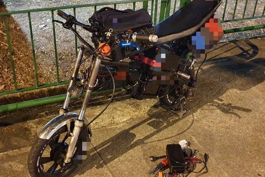 The 94kg personal mobility device, impounded by the Land Transport Authority in a three-day operation.