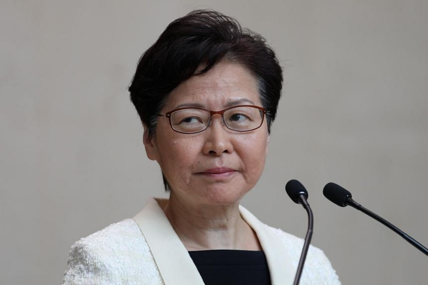 "Hong Kong Chief Executive Carrie Lam said she would take the ""difficult path"" to remain in office to lead Hong Kong out of the current political crisis."