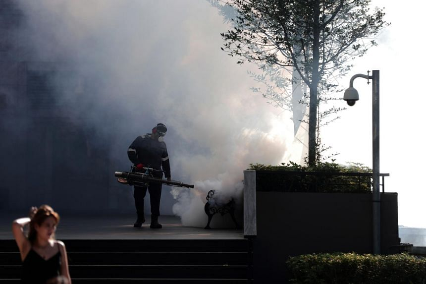 Mosquito fogging operations being carried out near Anchorpoint in Redhill, on July 12, 2019.
