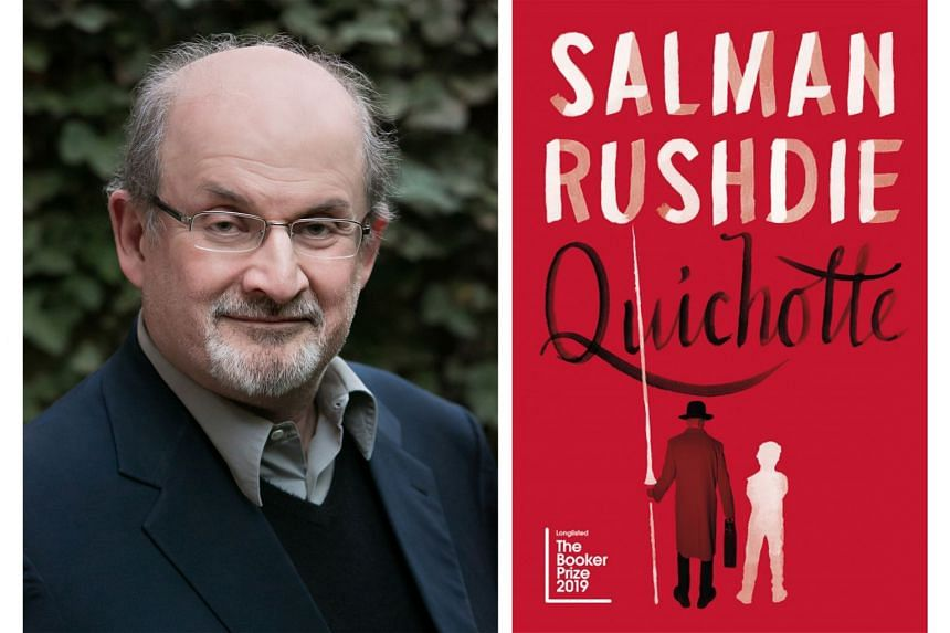 Salman Rushdie (left) muddies the waters between fiction and reality in Quichotte.