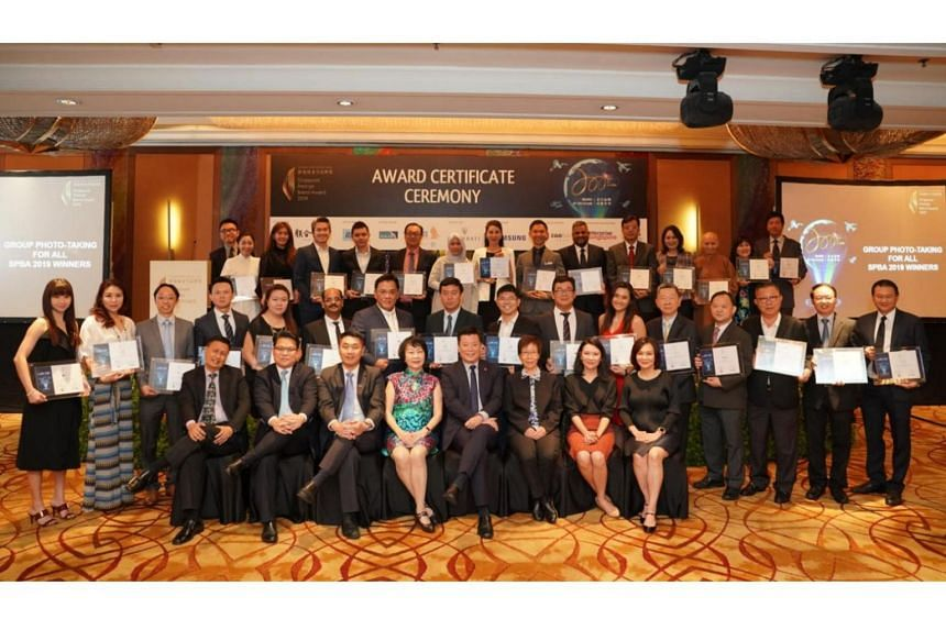 Winners of the Singapore Prestige Brand Award 2019 held at the ceremony at the Marina Mandarin Singapore on Sept 3, 2019.