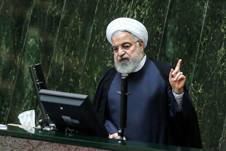Iran's President Hassan Rouhani speaks at parliament in the country's capital of Tehran on Sept 3, 2019.