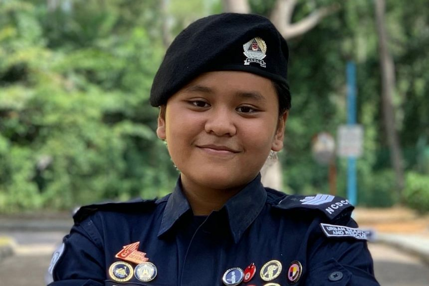 NCDCC cadet Diniy Qurratuaini's quick thinking and selfless act showed that age is no barrier to saving lives, said the SCDF.