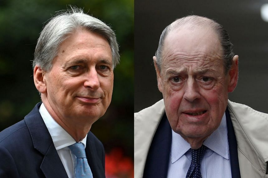 The group includes former finance minister Philip Hammond (left) and Nicholas Soames, the grandson of wartime prime minister Winston Churchill.