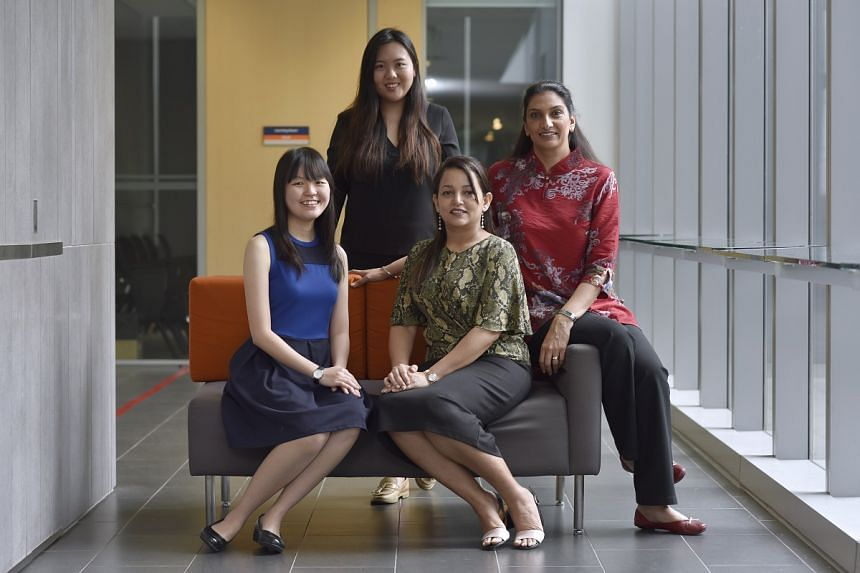Clockwise: Ms Angela Au, Research Assistant at the Department of Psychological Medicine at the NUS Yong Loo Lin School of Medicine; Dr Divjyot Kaur, a lecturer of psychology at JCU; Dr Smita Singh, a senior lecturer of psychology at JCU; Ms Chua Ru Y