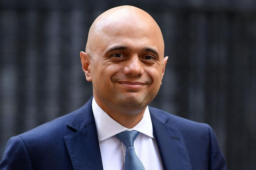 Britain's Chancellor of the Exchequer Sajid Javid leaves 11 Downing Street in central London on Sept 3, 2019.