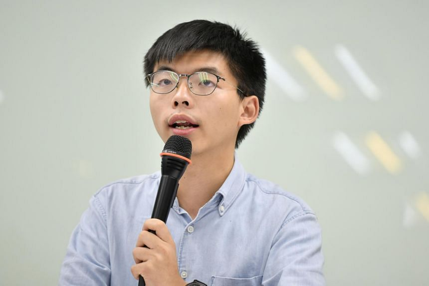 "Prominent movement leader Joshua Wong (pictured) and the Hong Kongers in Germany Concern Group - argued that they face ""a dictatorial regime"" applying violent measures ""with a tendency towards a new massacre such as that in Tiananmen Square""."