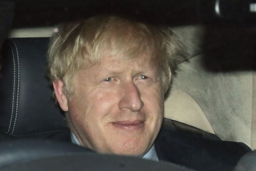 Boris Johnson leaves the House of Commons, after the Brexit vote in Parliament.