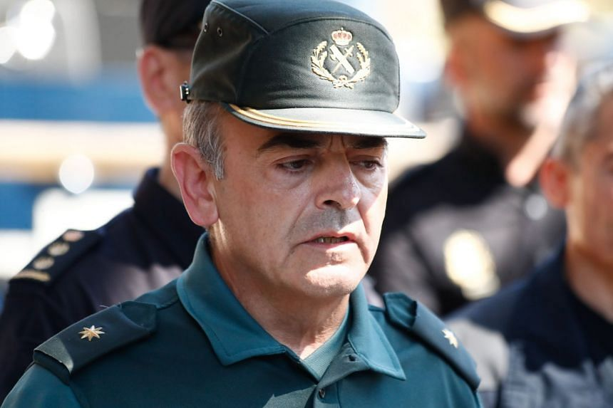 Commander of the Spanish Civil Guard Jose Sierra speaks to the media after Ochoa's body was found.