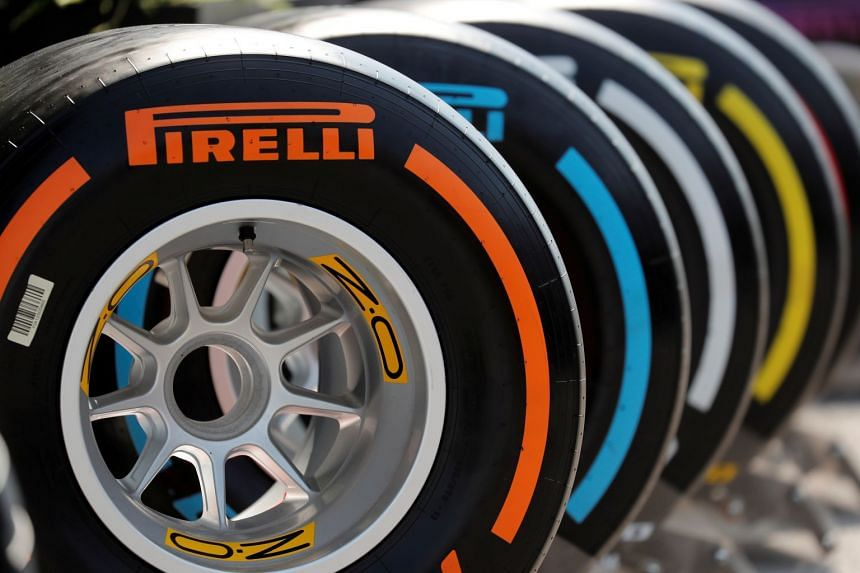 A general view of Pirelli tyres.