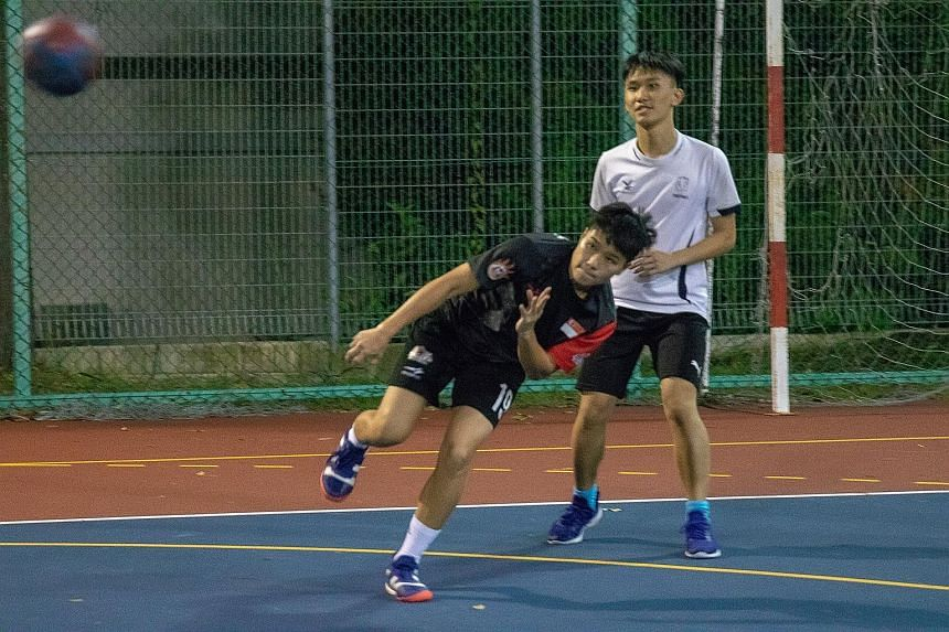 Gan Yun Ting, 26, hopes that her year-long semi-professional stint in Japan will open more doors for other local handballers and help grow the sport in Singapore. ST PHOTO: JEREMY KWAN