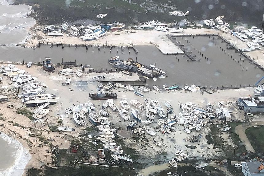 An aerial photo shows the aftermath of Hurricane Dorian, with damage over an unspecified area in the Bahamas. It was the worst storm to ever strike the island nation.